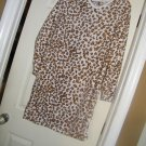 NEW SIMPLY BASIC FLANNEL LEOPARD LS SHORT NIGHT S/GOWN M