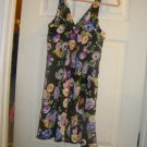 NEW WOMANS OSCAR DE LA RENTA SHORT FLORAL NIGHTGOWN M