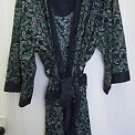 NEW Men's One Size Cotton SHORT WRAP PAISLEY ROBE
