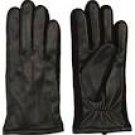 NEW FOWNES WOMEN'S BLACK LEATHER GLOVES S