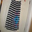 NEW JUNIORS BONGO SMOCK TOP DRESS  BLACK AND WHITE S