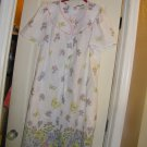 NEW SEARS CS SHORT SLEEVE FLORAL DUSTER 2X