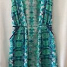 NEW MOSSIMO Green WHITE Floral Print Dress - Lightweight MSJEATH