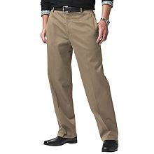 NEW DOCKERS Classic-Fit Flat-Front Pants KHAKI 44X30