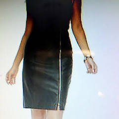 NEW KARDQSHIAN KOLLECTION BLACK FAUX LEATHER SHEATH DRESS M