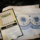 new lorraine e pc tiet and valance set embroidered 58x36