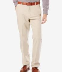 NEW DOCKERS D3 SIGNATURE FLAT FRONT WHITE PANTS 36X30