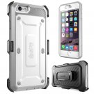 "iPhone 6 Plus 5.5"" White Case SUPCASE [Full Body Heavy Duty] Belt Clip Holster"