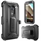 Motorola Moto X SUPCASE (2nd Gen.) [Heavy Duty Rugged Case] Belt Clip Black