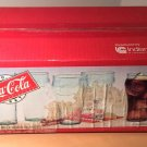 Sealed Case of (8) Bell Soda Glasses 16 Ounces Georgia Green Glass Indiana Glass