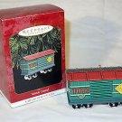 Hallmark 1997 Yuletide Central Toys Car #4 Train Ornament Pressed Tin MIB