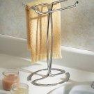 New InterDesign Axis Fingertip Towel Holder Great For Bathroom Vanitys