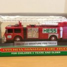 1999 Hess Miniature Toy Fire Truck Mint in Box