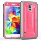 Samsung Galaxy S5 SUPCASE Pink Case [Full Body Heavy Duty] Rugged Hybrid Case