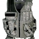 New UTG Army Digital Tactical Durable Adjustable Vest With Multiple Pouches
