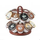 Nifty Red Mini Carousel for K-Cup  Holds Up To 18 K-Cups Lazy Susan Base New