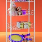 Wire World 4 Tier Rolling Storage Cart Easy Assembly New