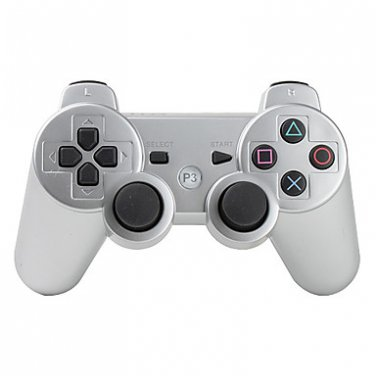 Silver Wireless Controller for PS3