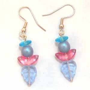 Blue Angel Earrings Handmade (JE144E)