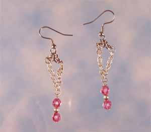 Rose Swarovski Earrings Handmade (JE49AE)