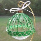 Christmas Green ZigZag Beaded Ornament Cover (JE182E)