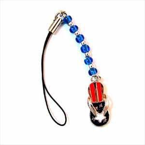 Red, White, Blue Sandal Cell Phone Dangle Handmade (JE229)
