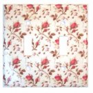 Pink Rose Buds with Stems Double Light Switch Plate Cover (LS187E)