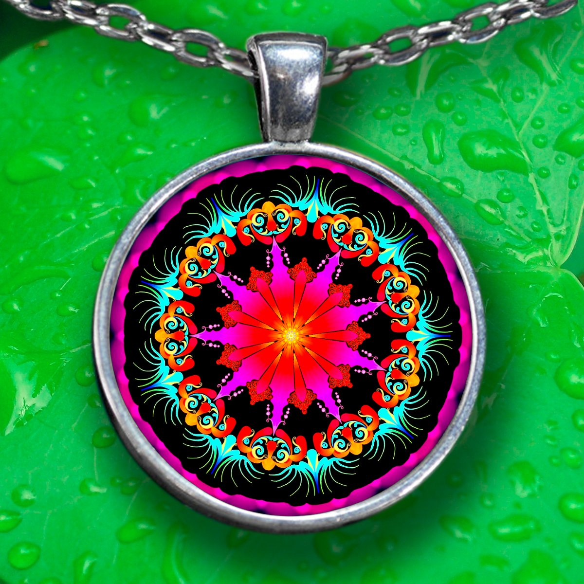 Pendant Necklace - Silver Plated - FREE Shipping!