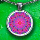 Mandala Pendant Necklace - Silver Plated - FREE Shipping!