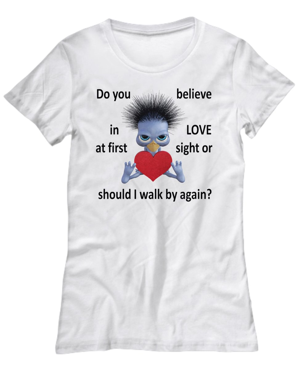 Love at First Sight  Funny T-Shirt - L - FREE Shipping!