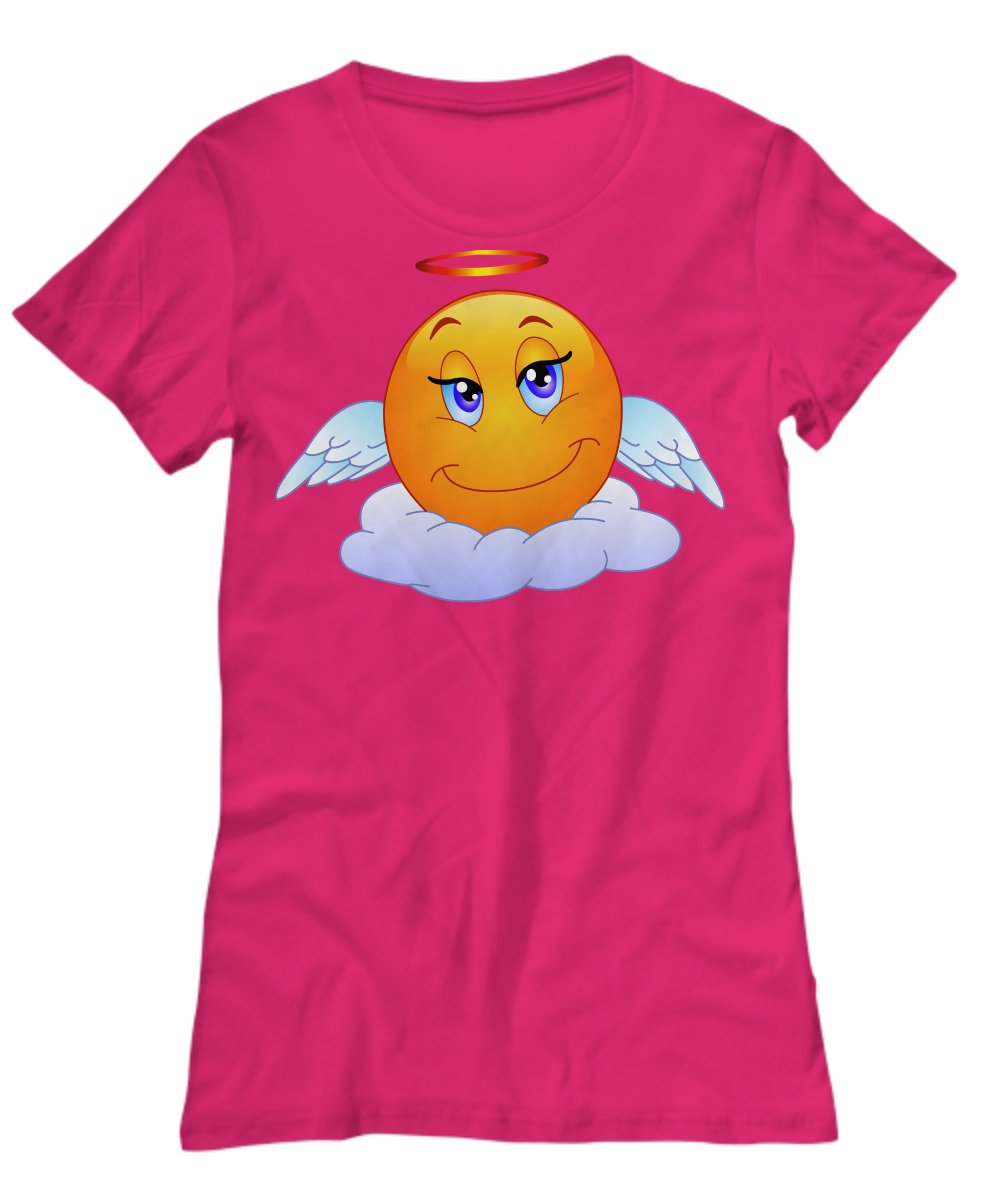 Angel Emoji - Funny T-Shirt - FREE Shipping!