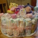 Themed 1 Tier Diaper Cake