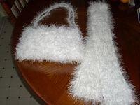 Fur Purse & Scarf Set