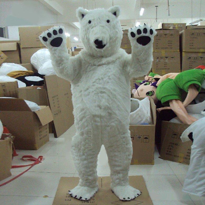 Костюм белого медведя для взрослого