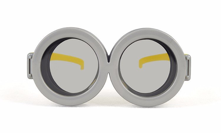 Cosplay Minions Passive Polarized Circular Cute 3D Glasses