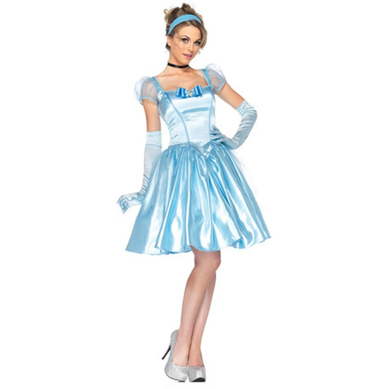 CosplayDiy Women's Dress Knee Length Cinderella Princess Dress Cosplay