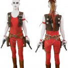 Cosplaydiy Women's Outfit Star Wars Aurra Sing Cosplay Costume For Christmas Carnival Party