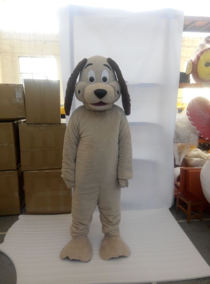 CosplayDiy Unisex Mascot Costume Tan Dog Mascot Costume Cosplay For Party