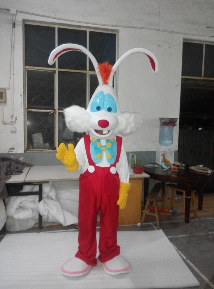 CosplayDiy Unisex Mascot Costume Roger Rabbit Mascot Costume Cosplay For Christmas Party