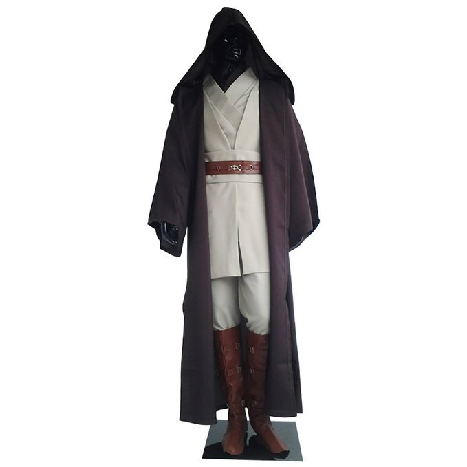 Cosplaydiy Men's Outfit Star Wars Jedi Knight Anakin Skywalker Cosplay For Halloween Party