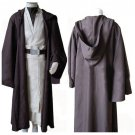 Cosplaydiy Men's Outfit Star Wars Old Obi Wan Kenobi Costume Movie Cosplay For Halloween Party