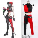 Cosplaydiy Women's Costume Batman Assaul On Arkham Harley Quinn Cosplay For Christmas Party