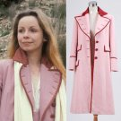 CosplayDiy Women's Dress Doctor Who Dr. Long Pink Wool Trench Coat Cosplay