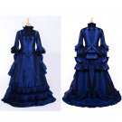 CosplayDiy Women's Blue Medieval Renaissance Fancy Victorian Gothic Dress Cosplay