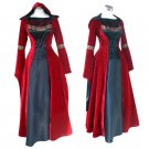 CosplayDiy Women's Red Gothic Renaissance Medieval Victorian Evening Dress Costume Cosplay