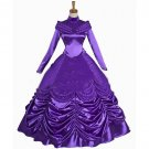 Cosplaydiy Women's Medieval Dress Beauty and the Beast Princess Belle Purple Dress Cosplay