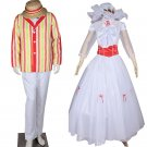 Cosplaydiy Men&Women Costume Mary Poppins Bert Jacket Cosplay