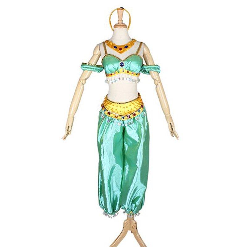 CosplayDiy Women's Dress Aladdin Jasmine Princess Dress Cosplay For Party