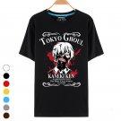 Men's Fashion Round Collar T-shirt Tokyo Ghoul Kaneki Ken Cosplay Outfit
