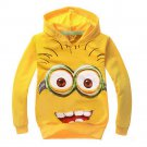 Kid's Despicable Me 2 Kids' Minion Hoodie Sweatshirt Cosplay